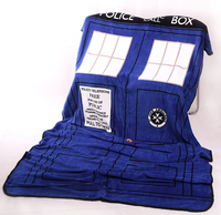 Doctor Who Cosplay TARDIS Blankets Coral Fleece Police Box Carpet Throw Blankets Blue Bed Sheet 127