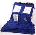 Mantas Coral Polar Caja de Policía de TARDIS de Doctor Who Cosplay Cosplay de la Alfombra Mantas de Cama Azul Hoja 127*226 cm envío Gratis