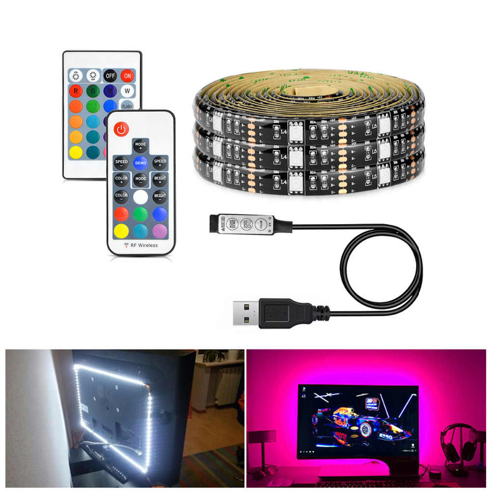 DC5V USB RGB LED Strip 5050 Flexible Light Adhesive Tape TV Background Decor lamp lighting IP20 / IP65 waterproof 1M 2M 3M 4M 5M