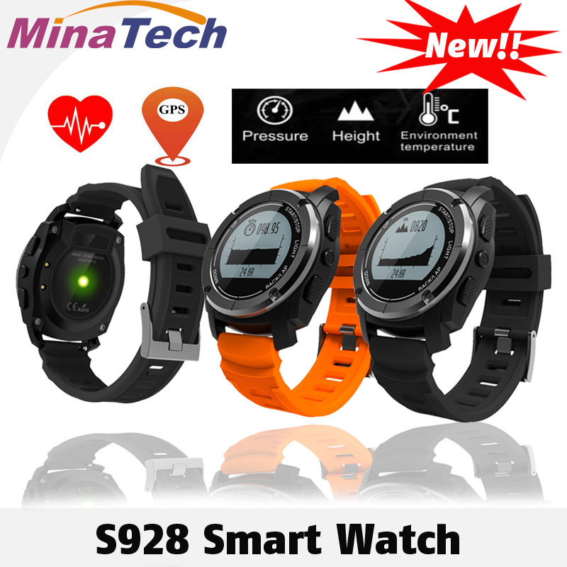 S928 Sport Smart Watch G-sensor GPS Outdoor Heart Rate Monitor Smart Wristband for Smartwatch Android IOS Smart Phone smartch s928 smart watch gps sport smartwatch professional heart rate monitor air pressure altimeter smart band for ios android
