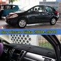 Dashmats car-styling accesorios del coche salpicadero cubre para nissan tiida c11 2004 2005 2006 2007 2008 2009 2010