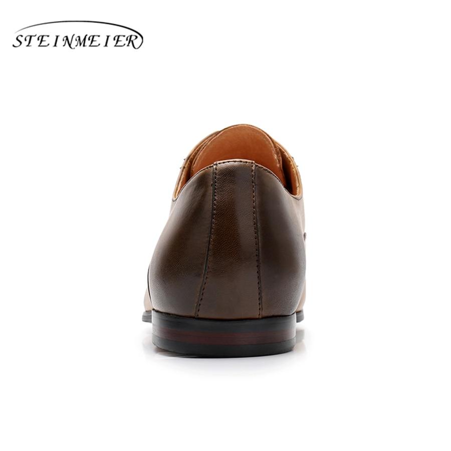 Vintage Preto Mens Do De Carneiro brown Inverno Brogue Vermelho À Flats Genuíno red Black Sapatos Feitos Oxford Mão 2018 Sapatilha Yinzo Couro Marrom 100 xS7wXPnP
