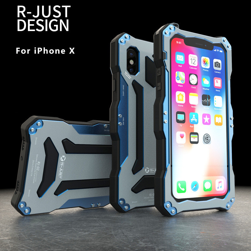 R just for iphone X Gundam Metal Aluminum phone Case For ...