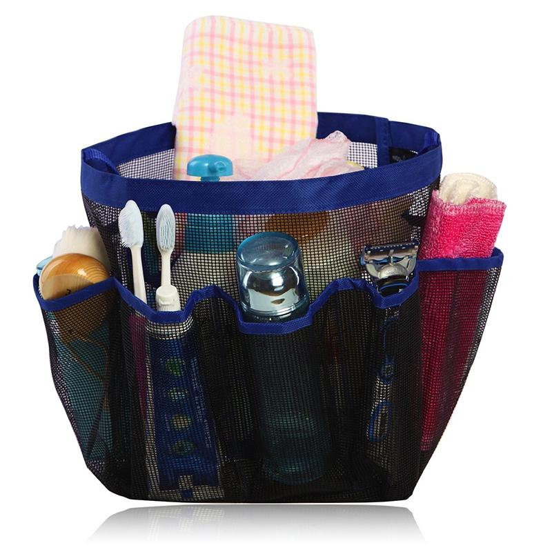 Hanging Bath Bag 8 Pocket Shower Mesh Portable Quick Dry Home Dorm Toiletry Carry All 21 24cm In Cosmetic Bags Cases From Luggage