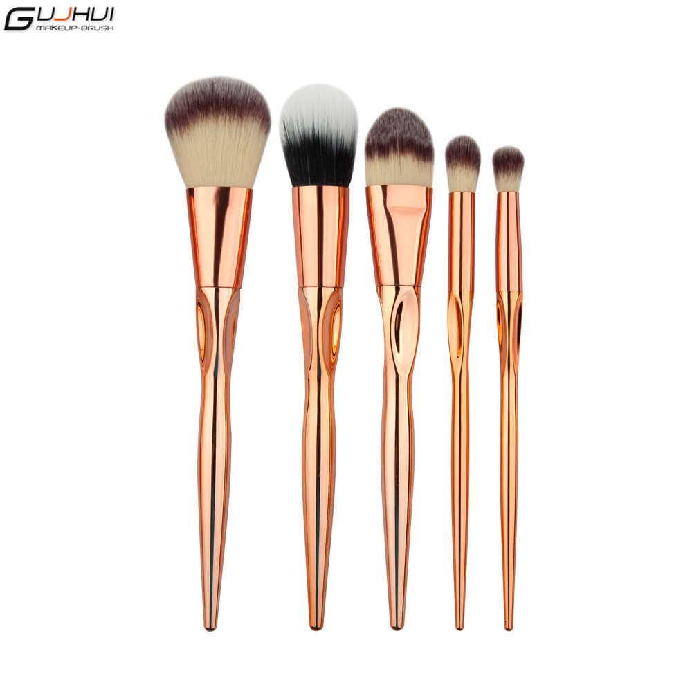 U-beauty® 12PCS Makeup Brushes Set Rose Gold Hearts Shaped Pro Foundation Powder Blush Eye Shadow Brushes Kits Contour Eyebrow Make Up Brush