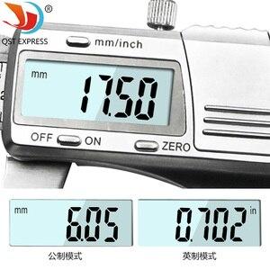 Image 5 - Suwmiarka cyfrowa 0 150mm 0.01mm ze stali nierdzewnej elektroniczne suwmiarki metryczne/calowe mikrometr narzędzia pomiarowe