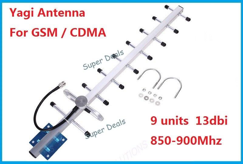 9 units 13dbi Cell phone signal antenna 824 960mhz 900mhz GSM CDMA outdoor yagi antenna with