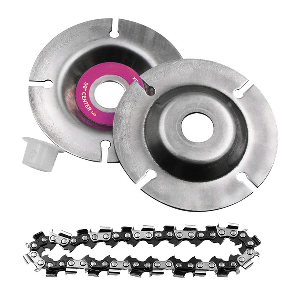 4 Inch Grinder Chain Disc Circular Saw Blade and Chain 22 Tooth Fine Cutting Set