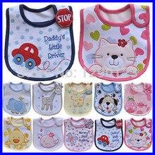 Hot Sale Cotton Baby Bib Infant Saliva Towels Baby Waterproof Bib Cartoon Baby Wear with Different Model Random Color