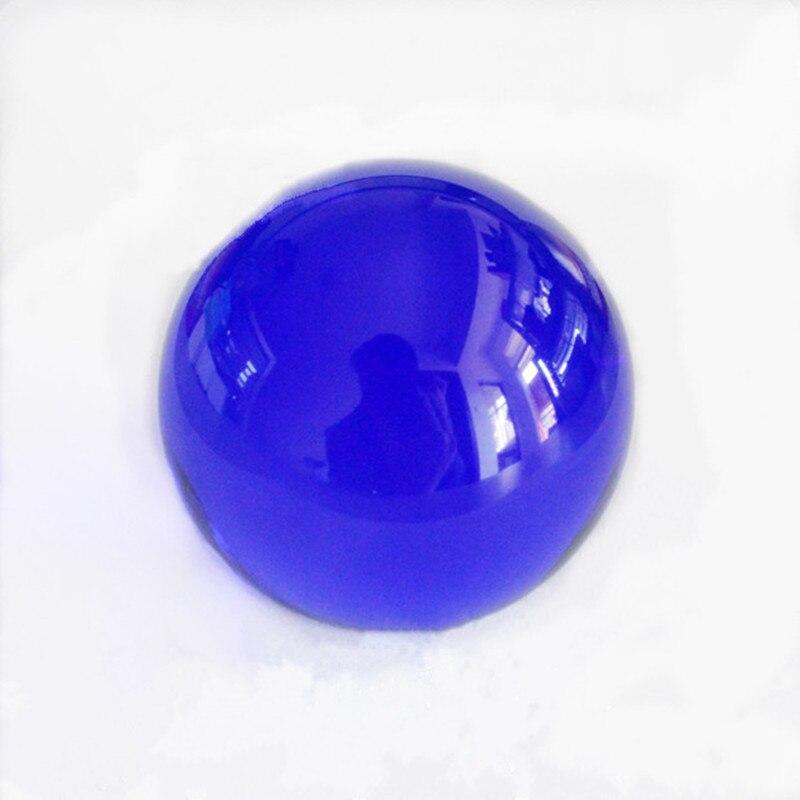 XINTOU K9 Boule de Cristal 80mm Artificielle Bleu Quartz Verre Globe Décoration de La Maison Moderne Accessoires Magie de Guérison Feng Shui Sphère