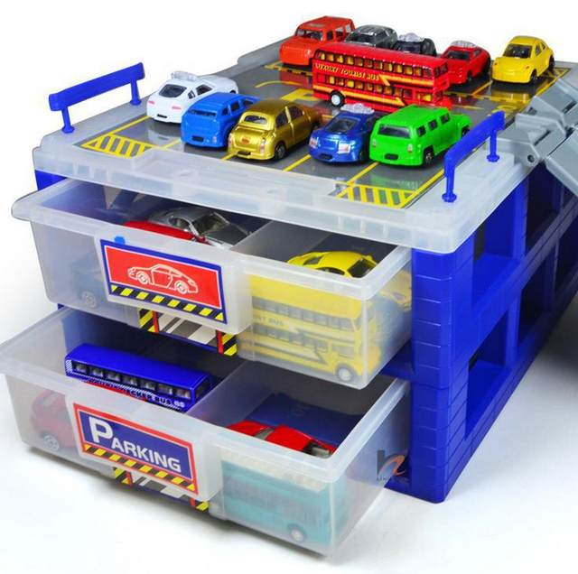 Free Shipping ! Mini Parking Lot Drawer Toy Storage Box Collection Car  Parking Sold Separately,Storage Box Car, Parking Box Toys