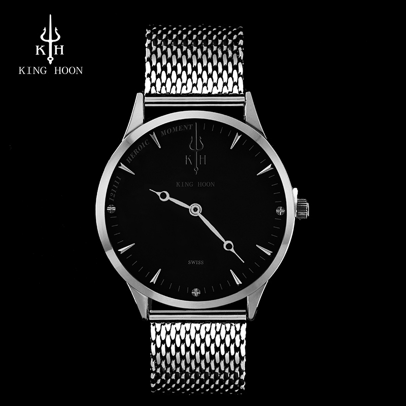 2017 Mens Watches KING HOON Brand Luxury Casual Military Quartz Sports Wristwatch Leather Strap Male Clock watch relogio masculi oulm mens designer watches luxury watch male quartz watch 3 small dials leather strap wristwatch relogio masculino