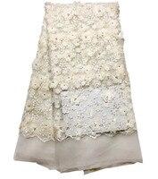 Французский Тюль Кружева Высокое качество 3d цветок кружевной ткани Новый 3d тюль кружевной ткани горячей 3d аппликация кружевной ткани для с