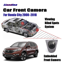 Liandlee Car Front View Camera For Honda City 2008-2018 2015 2016 Logo Embedded 4.3 LCD Screen Monitor Cigarette Lighter Switch