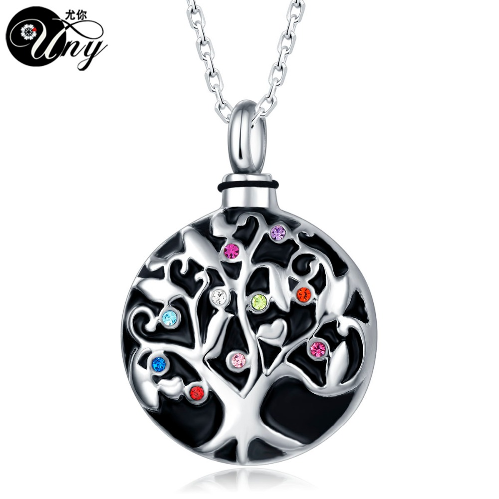 stainless memorial gift pendant necklace birthstone keepsake urn and product store ash wing heart cremation jewelry steel with bag purple chain