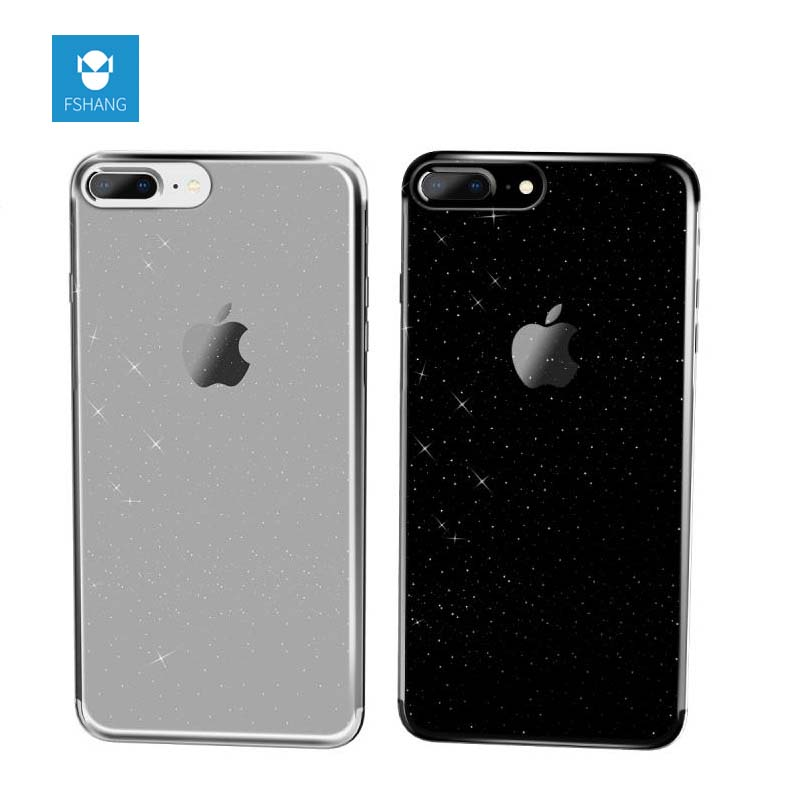 FSHANG For Iphone 7 7Plus Case Glitter