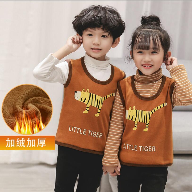 Vest Children Girls Velvet Autumn Baby-Boy Winter Cotton Warm 2-10 Thicken And Fashion