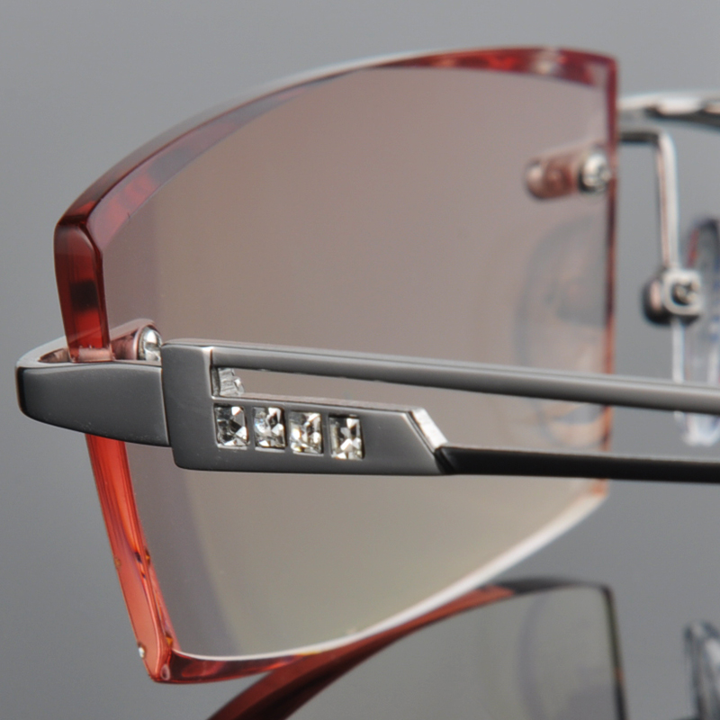 Men 39 s rimless glasses frame glasses rimless glasses trimming finished glasses frame myopia 70 in Men 39 s Eyewear Frames from Apparel Accessories