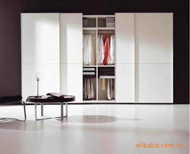 Furniture Bedroom Mix Match Style Wooden Wardrobe Sliding Door Closet