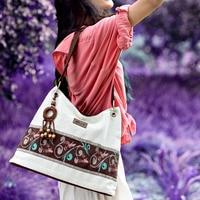 Designer Ladies Handbag Antistatic Handmade Fashion Shopping Shoulder Bags Linen Cloth National Trend Bag Vintage Women