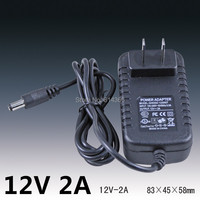 5 PZ 24 W 2A 12 V alimentazione elettrica 12 V LED di alimentazione della lampada 12 v alimentazione 12v2a adattatore di alimentazione 12 v 2a router US EU UK AU spina