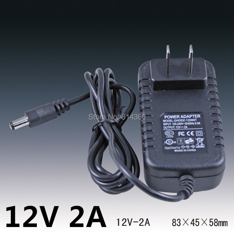 5PCS 24W 2A 12V power supply 12V LED lamp power supply 12 v power supply 12v2a power adapter 12v 2a router US EU UK AU plug 12v 2a