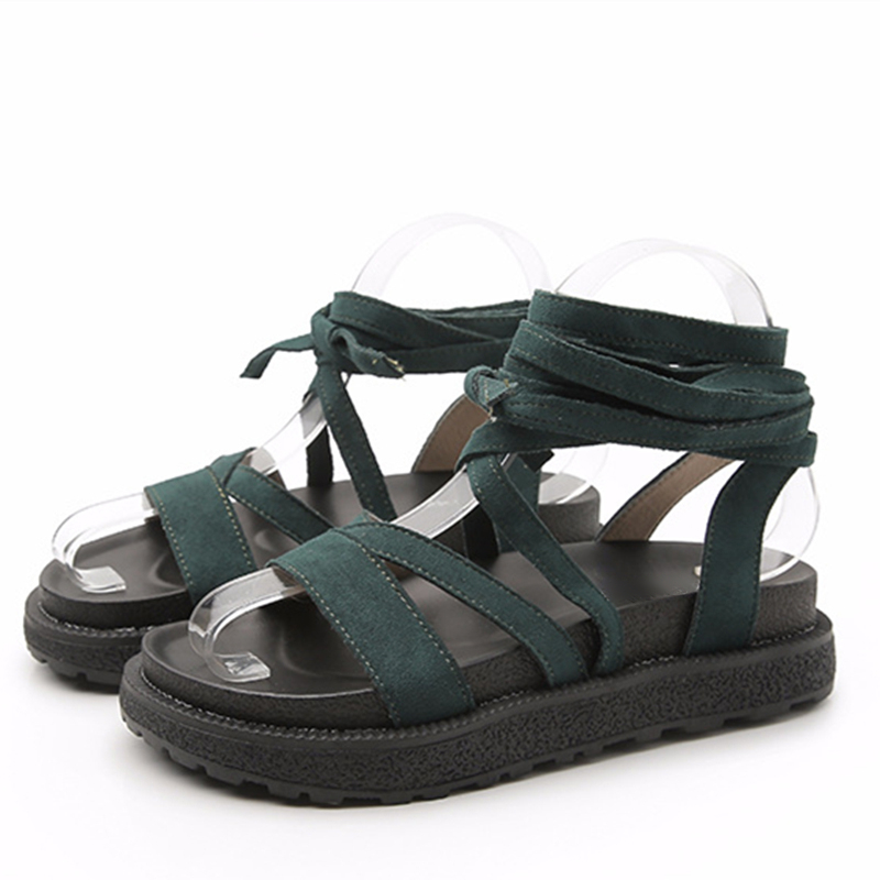 verde Venda Sandalias Toe Correa Peep Botas Tobillo Gladiador Negro Tamaño Sexy Zapatos Más 43 apricot Abramenko Hebilla Pisos Mujeres De Encaje qRtY5