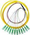 Pacote de Distribuição FTTH Pigtail 12 núcleos de fibras Monomodo SC APC SM 12F 10 M Frete Grátis