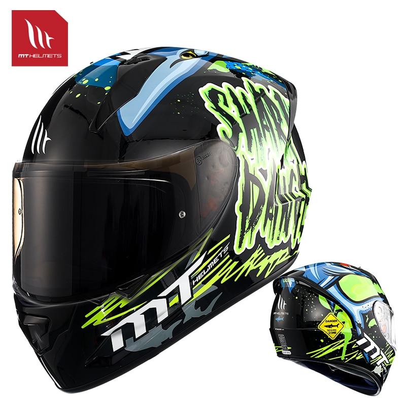 New Motorcycle Helmet MT Full Face Helmet Motorbike Racing Motocross Helmets Casque Casco Moto ECE Certification
