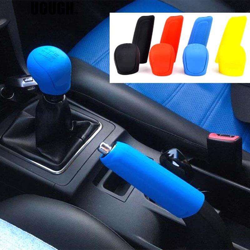 Glove Cover-Head Handbrake-Sleeve Gel-Gear Shift Silicone Ford Collars Car Knob 2pcs