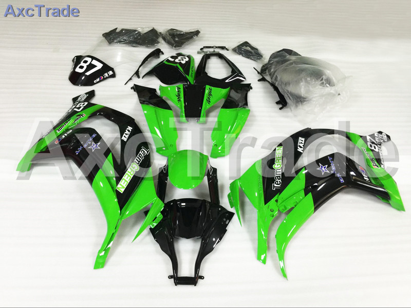 Motorcycle Fairings Kits For Kawasaki Ninja ZX10R ZX-10R 2011-2015 11 - 15 ABS Plastic Injection Fairing Bodywork Kit Green A693 moto motorcycle fairing kit for kawasaki ninja zx10r zx 10r 2008 2009 2010 08 09 10 abs plastic fairings fairing kit white black