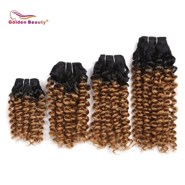 8 14inch Bouncy Curly Hair Heat Resistant Synthetic Hair Weave Sew