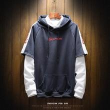 High Quality Sweatshirt Men Hip Hop Patchwork Long Sleeve Pullover Hoodies 2019 AUTUMN Clothes
