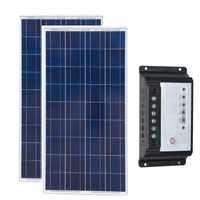 Impermeabile Caricatore del Pannello Solare 12v 150w 2 Pcs Pannelli Solari 300w 24v Regolatore Regolatore Solare 12 v/24 v 20A Kit di Casa Solare Auto