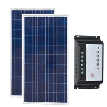Waterproof Solar Panel Charger 12v 150w 2 Pcs Panels 300w 24v Controller Regulator 12v/24v 20A Home Kit Car