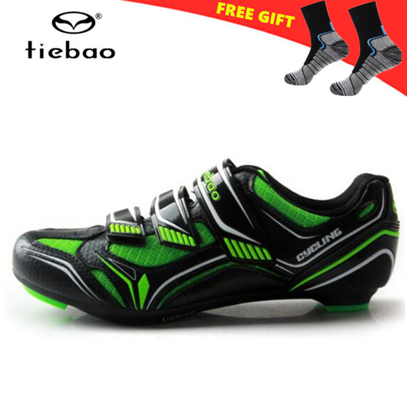 TIEBAO Professional Cycling Shoes Road Men Breathable Racing Bike Shoes Self-Locking Athletic Bicycle Shoes Sapatilha Ciclismo inbike road cycling shoes men 2018 carbon fiber road bike shoes self locking bicycle shoe athletic sneakers sapatilha ciclismo