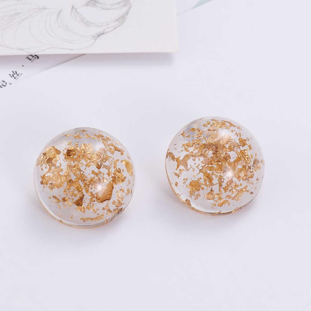 1 ペア日本甘い幾何不規則な透明アクリル水滴女性ガールの宝石類のギフト