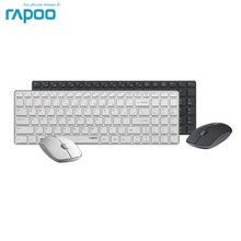 Original Rapoo 9300 P Wireless Optical Teclado y Ratón Combos de Metal Ultra Delgado para PC Portátil Gaming Home Teclado Ratón