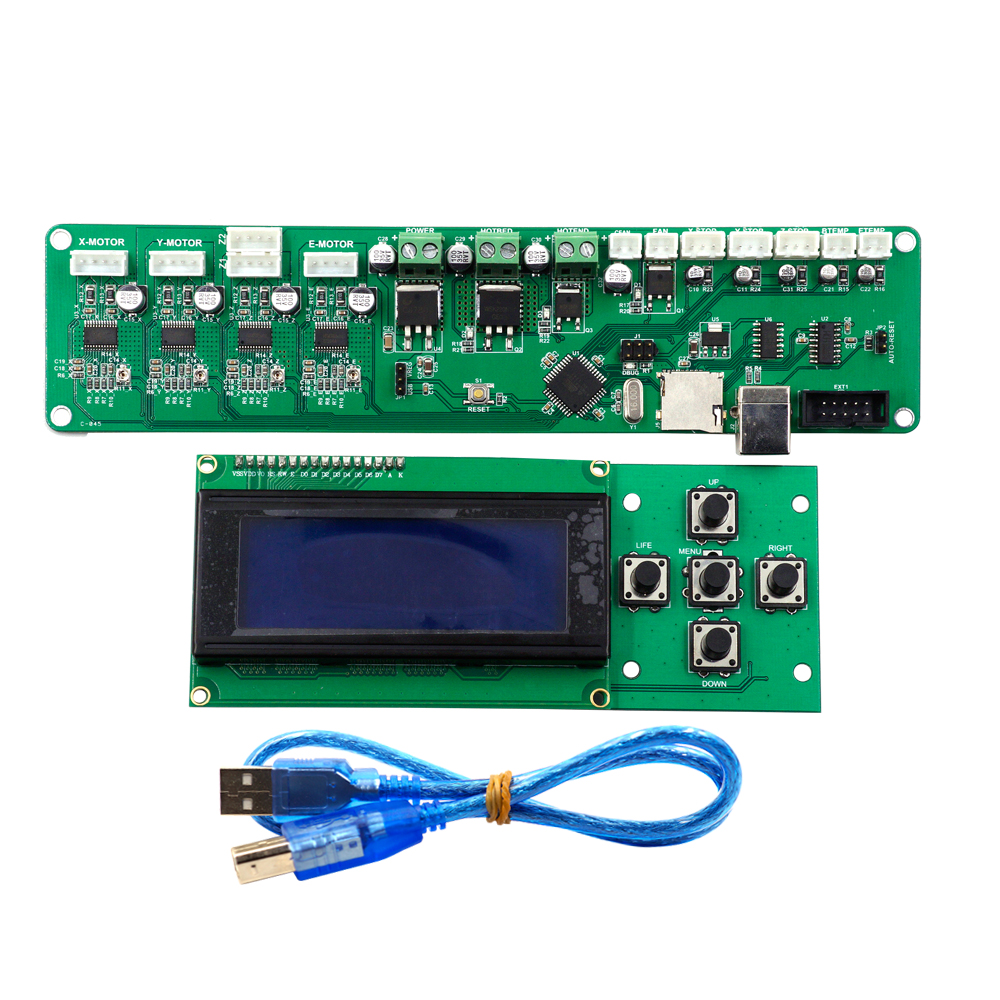 Control Board Melzi PCB Card ATMEGA 1284P P802M Mainboard X3A Motherboard XY-100 Controller With 2004LCD For Tronxy 3D printer melzi 1284p