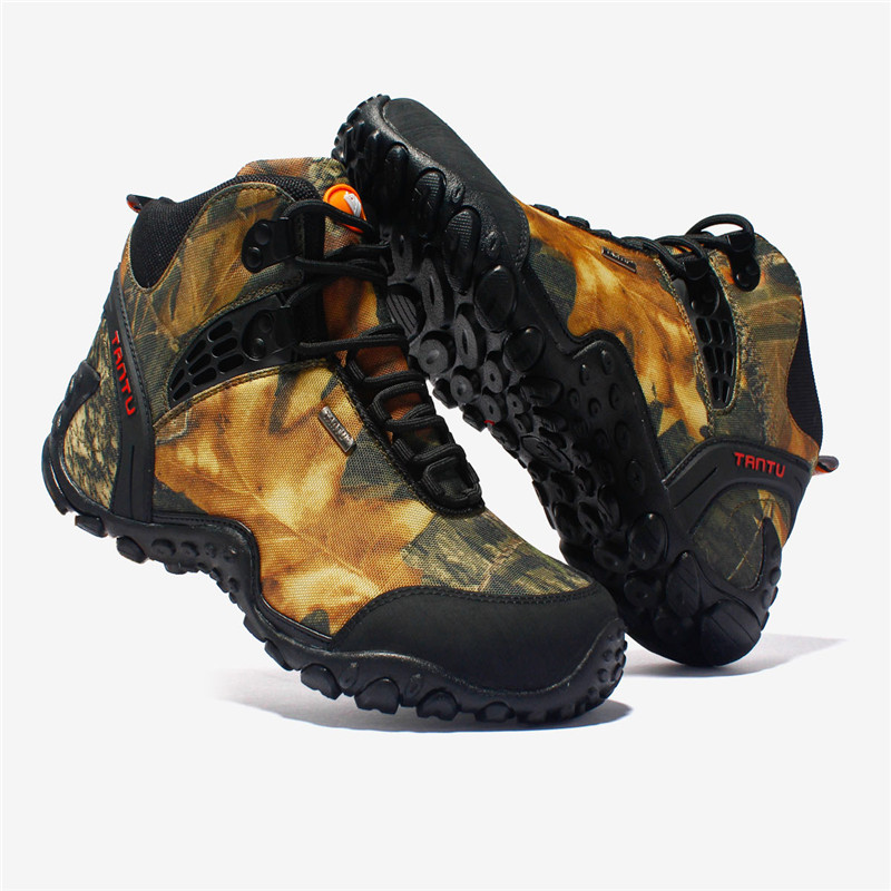 GOMNEAR Waterproof Hiking Shoes Men Breathable Trekking Tactical Shoes Outdoor Hiking Sneakers For Men Non-slip Camping Shoes outdoor hunting shoes for men waterproof winter sneakers men increased internal non slip hunting camping shoes hiking boots