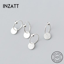 INZATT Real S925 Sterling Silver Minimalist Round Bead Classic Hoop Earrings For Fashion Women Party Fine Jewelry Accessories cheap NONE XEY663 JY180319073 925 Sterling Third Party Appraisal 100 925 Sterling Silver Guarantee Acceptable Free shipping with tracking info