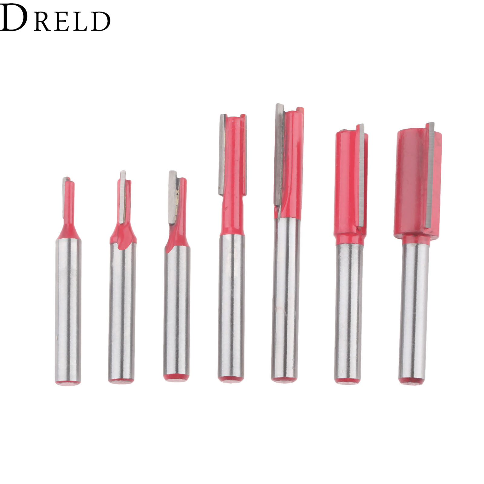 """Woodworking Tool Metal Double Flutes Straight Trim Router Bit 1//4/"""" x 1//4/"""""""