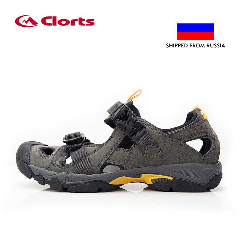 Armazém russo Clorts Verão Dos Homens Sandálias de Praia Respirável Sapatos Sapatos De Água De Natação Água PU Sapato SD-206