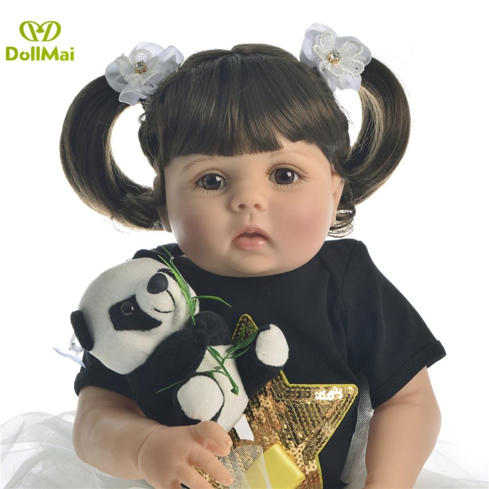 Reborn bébé poupée Fille en vie full body silicone vinyle poupées 23