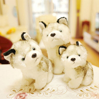 Perros Husky Juguete de peluche Suave Juguetes Para Niñas Muñecas Juguetes de Peluche Brinquedos juguetes Simulación Animal Perro Animales de Peluche 70C0532