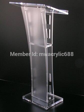 Pulpit FurnitureFree Shipping Beautiful Easy Cheap Detachable Acrylic Podium Pulpit Lecternacrylic Podium