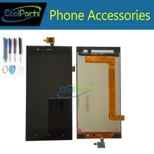 1 PC/Lot Alta Calidad Para Highscreen Boost 3 Boost 3 Pro Pantalla LCD Y Pantalla Táctil Digitalizador Asamblea Con Herramientas Negro Color