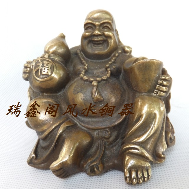 Bronze Statue Copper Maitreya Brassware Lucky Buddha Bronze Statue Decoration Home Decoration