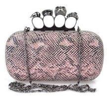 Жесткий чехол сумочка, Нежный маленький eveningbags, Высокое — комплекснозначным марка дизайн женщины день clutches, Топ мода череп кольцо змея чехол
