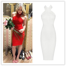 cac4f62e824 Red and White New Color Girl s Date Party Sexy Dress Halter HL Fashion Bandage  Dress Club